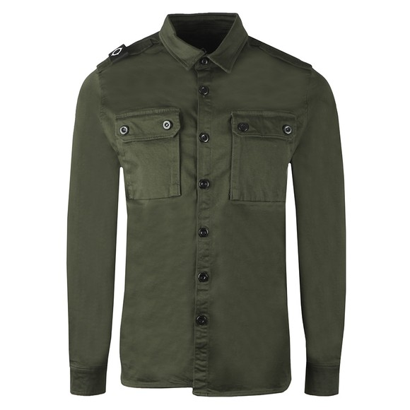 Ma.Strum Mens Green Two Pocket Shirt