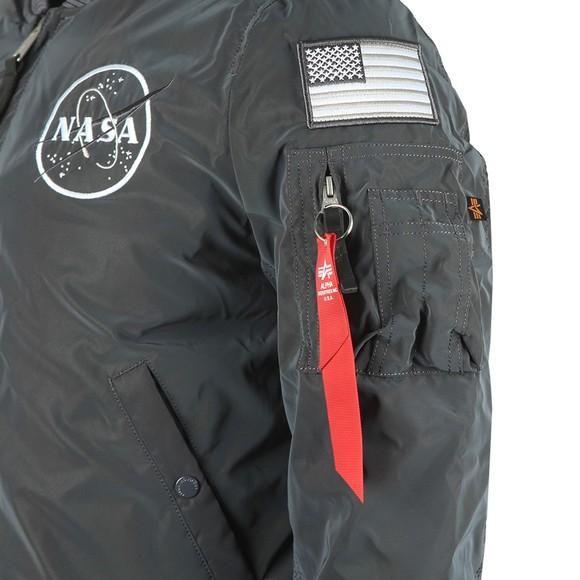 Alpha Industries Mens Black MA1 Rainbow Reflective Bomber main image