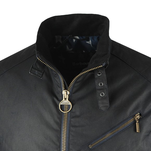 Barbour Int. Steve McQueen Mens Blue Placer Wax Jacket main image