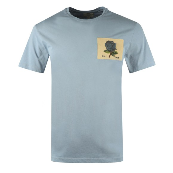 Kent & Curwen Mens Blue Rose 1926 Icon T Shirt main image
