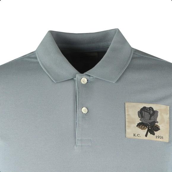 Kent & Curwen Mens Blue Small Rose Polo Shirt