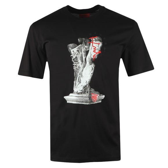 HUGO Mens Black Dneaker T-Shirt