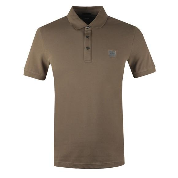 BOSS Mens Brown Casual Passenger Polo Shirt