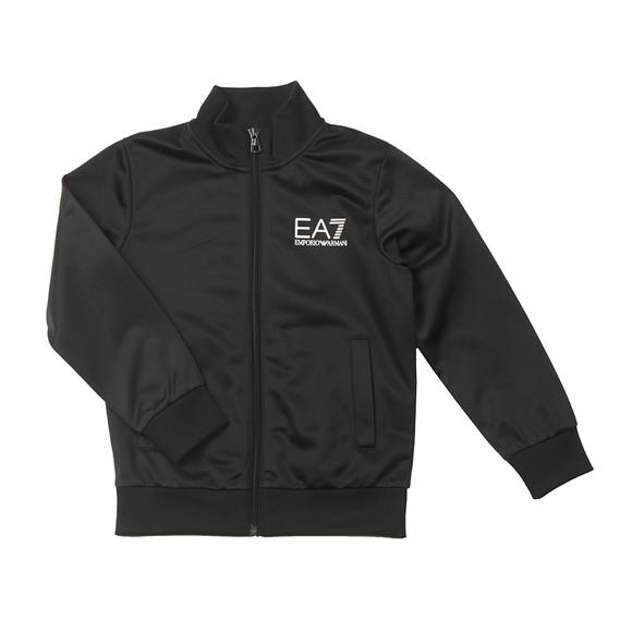 EA7 Emporio Armani Boys Black Tricot Tracksuit