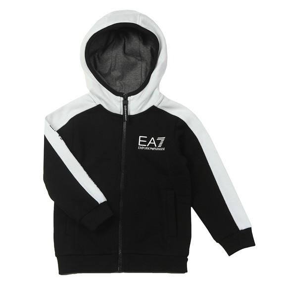 EA7 Emporio Armani Boys Black Contrast Shoulder Tracksuit