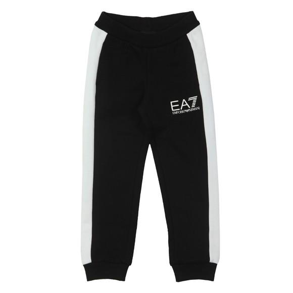 EA7 Emporio Armani Boys Black Contrast Shoulder Tracksuit main image