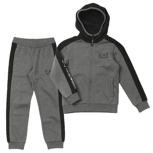 EA7 Emporio Armani Boys Grey Contrast Shoulder Tracksuit