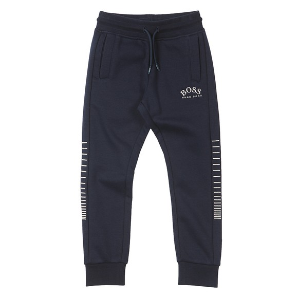 BOSS Boys Blue J24666 Curved Logo Jogger