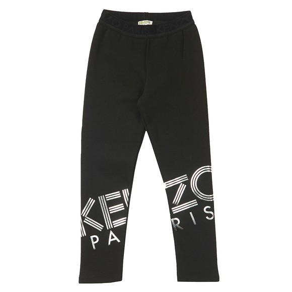 Kenzo Kids Girls Black Girls Sport Line Logo Jogger