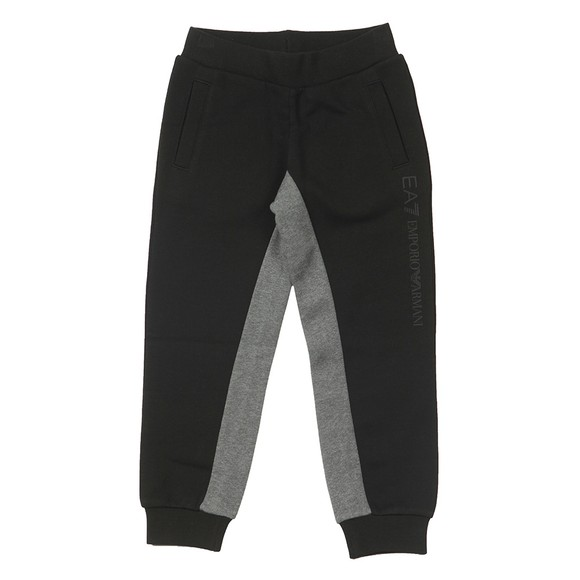 EA7 Emporio Armani Boys Black Two Tone Jogger main image