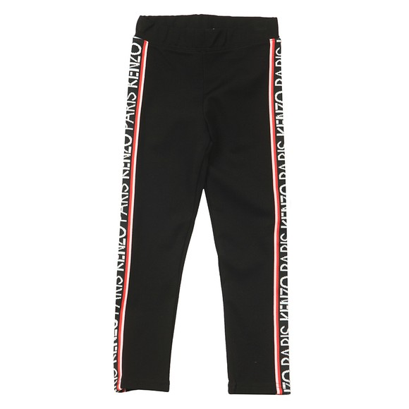 Kenzo Kids Girls Black Kourtney Tape Jogger