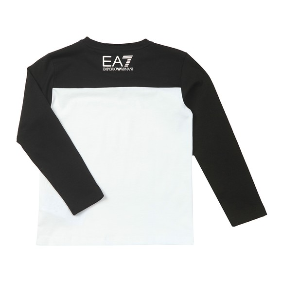 EA7 Emporio Armani Boys White Block Colour Large Centre Logo T-Shirt