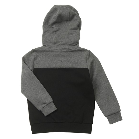 EA7 Emporio Armani Boys Grey Embossed Logo Hoody