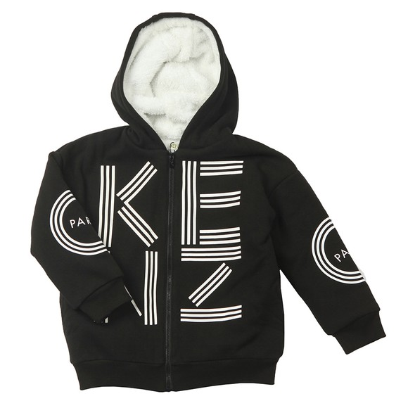 Kenzo Kids Boys Black Sportline Fleece Lined Hoody