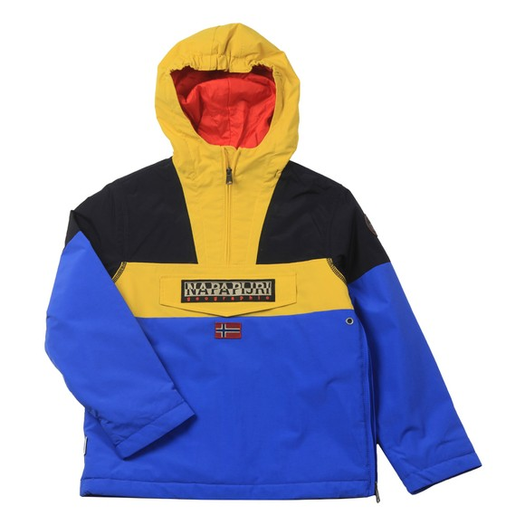 Napapijri Boys Blue Rainforest Colourblock Jacket