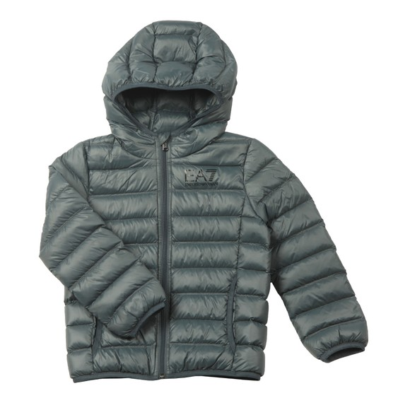 EA7 Emporio Armani Boys Grey Down Puffer Jacket