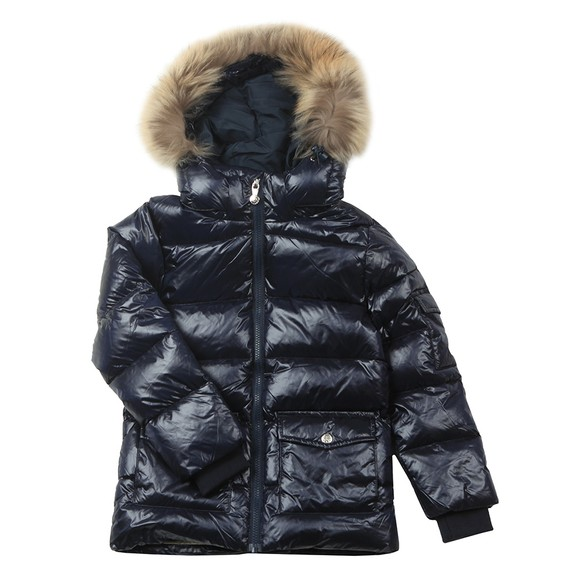 Pyrenex Girls Blue Authentic Jacket With Fur