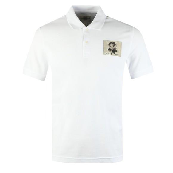 Kent & Curwen Mens White Small Rose Polo Shirt