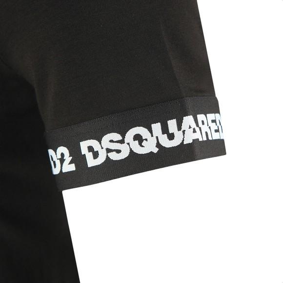 Dsquared2 Mens Black Tape Cuff T-Shirt