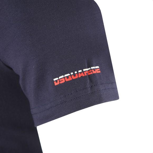 Dsquared2 Mens Blue Split Sleeve Logo T Shirt
