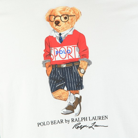 Polo Bear By Ralph Lauren Mens White Sport Bear T-Shirt