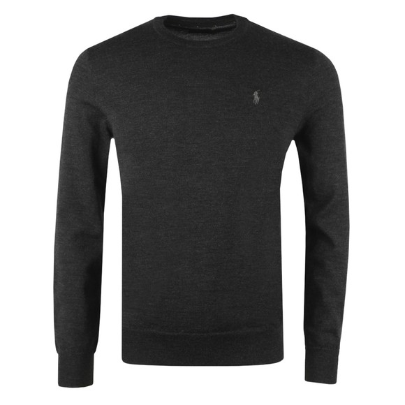 Polo Ralph Lauren Mens Grey Washable Merino Crew Neck Jumper