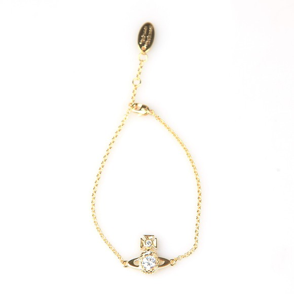 Vivienne Westwood Womens Gold Ouroboros Small Bracelet
