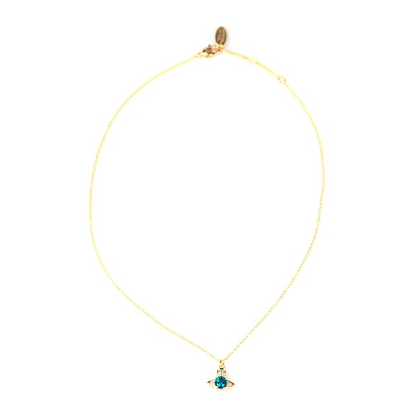 Vivienne Westwood Womens Gold/Emerald Reina Pendant