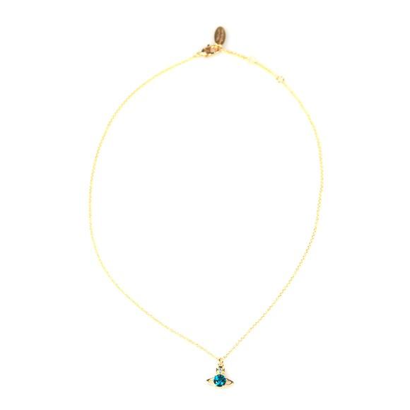 Vivienne Westwood Womens Gold/Emerald Reina Pendant main image