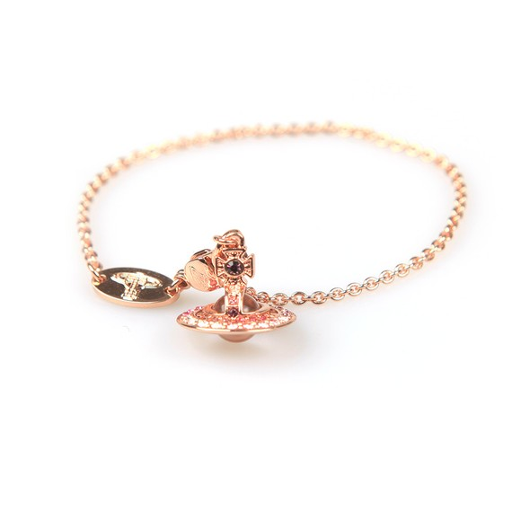 Vivienne Westwood Womens Pink Claretta Orb Bracelet