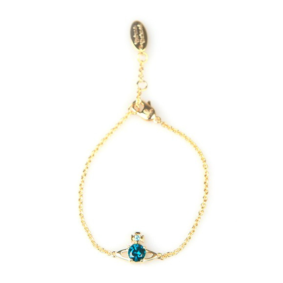 Vivienne Westwood Womens Gold/Emerald Reina Small Bracelet
