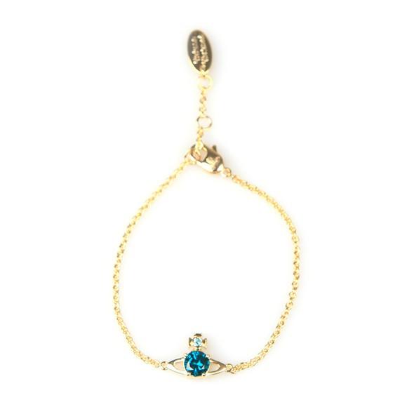 Vivienne Westwood Womens Gold/Emerald Reina Small Bracelet main image