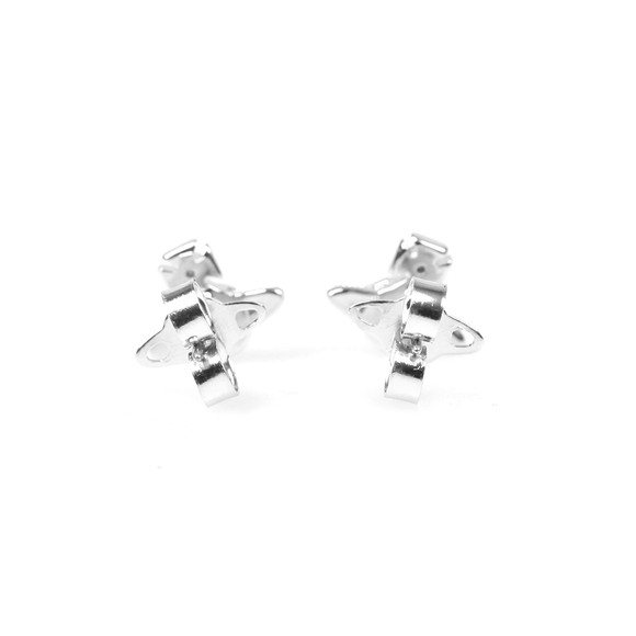 Vivienne Westwood Womens Silver London Orb Earrings