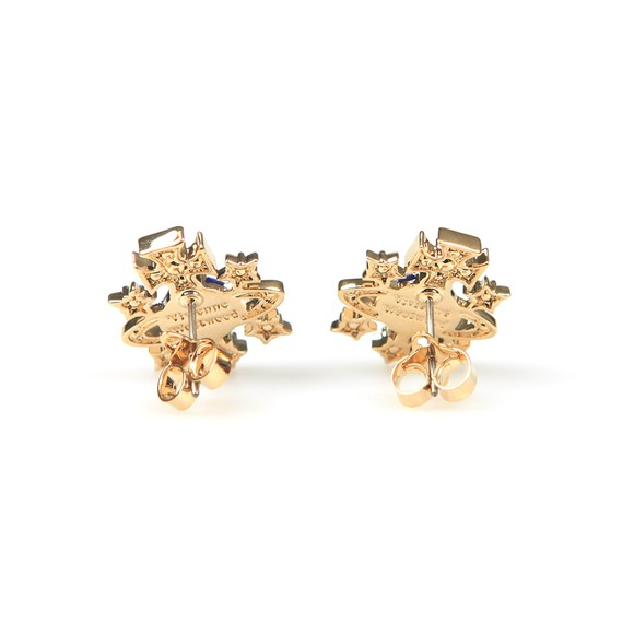 Vivienne Westwood Womens Gold Dalila Bas Relief Earrings main image