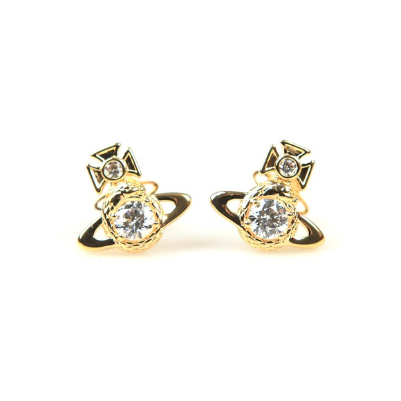 Vivienne Westwood Womens Gold Ouroboros Small Earring