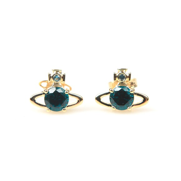 Vivienne Westwood Womens Gold/Emerald Reina Earring