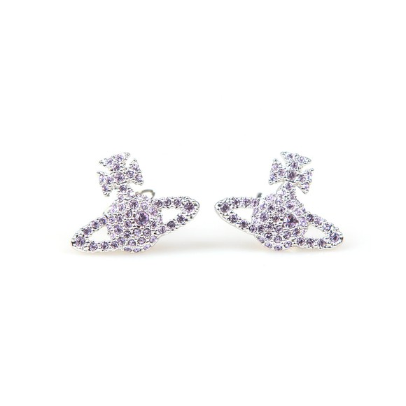 Vivienne Westwood Womens Purple Grace Bas Relief Stud Earring
