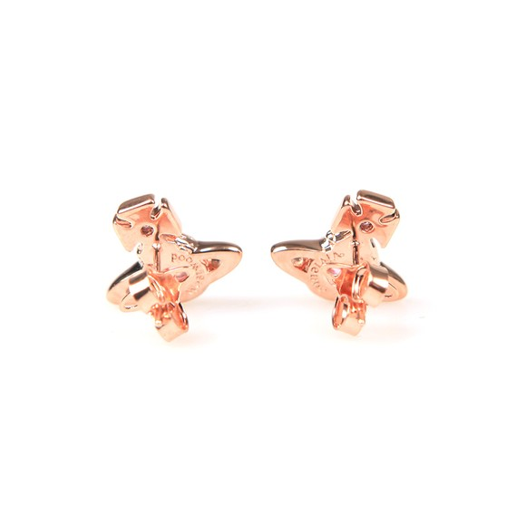 Vivienne Westwood Womens Pink Ouroboros Small Earring