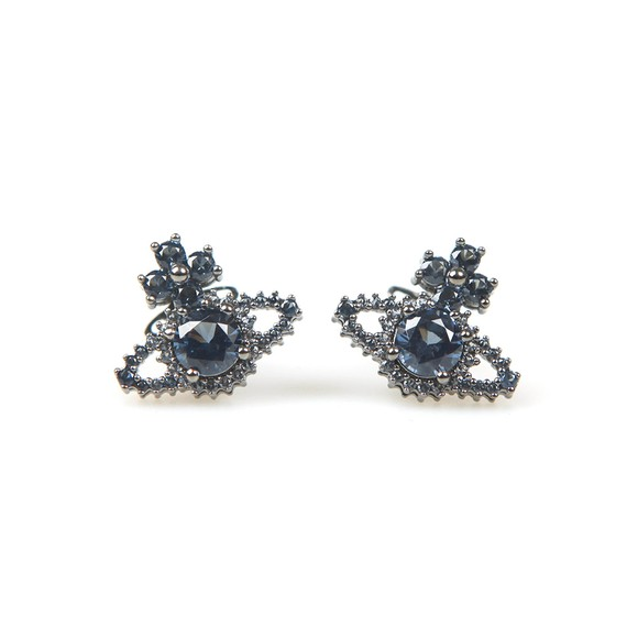 Vivienne Westwood Womens Blue Valentina Orb Earrings