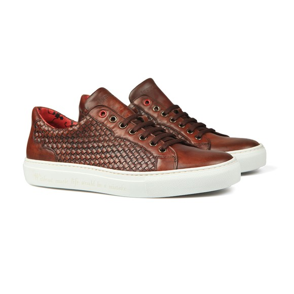 Jeffery West Mens Brown Apolo Trainer