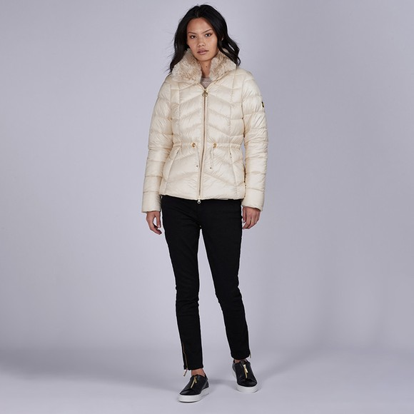 Barbour International Womens Off-White Halfback Quilted Jacket main image