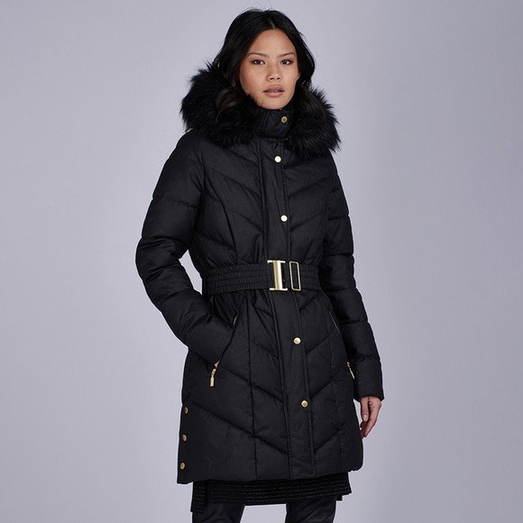 Barbour International Womens Black Castle Combe Wax Jacket