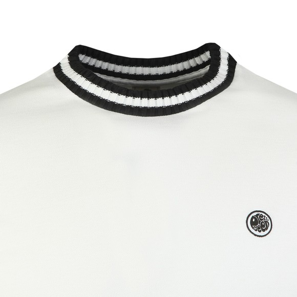 Pretty Green Mens White Tipped Pique T-Shirt