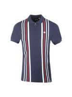 Engineered Stripe Zip Polo Shirt