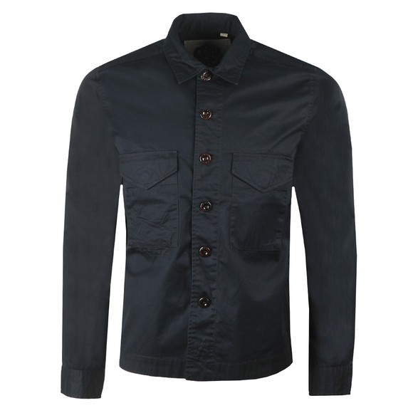 Pretty Green Mens Black Button Through Overshirt