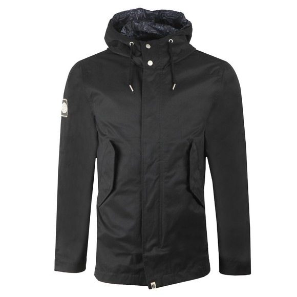 Pretty Green Mens Black Cotton Zip Up Hooded Jacket