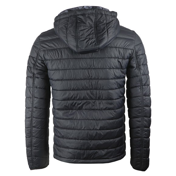 Pretty Green Mens Black Quilted Jacket