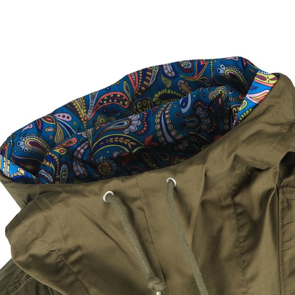 Pretty Green Mens Green Multi Pocket Festival Jacket