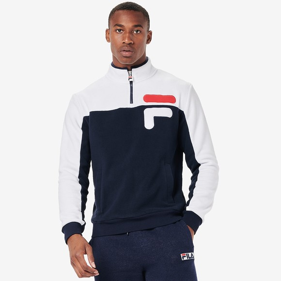 Fila Mens Blue Offaly 1/2 Zip Fleece