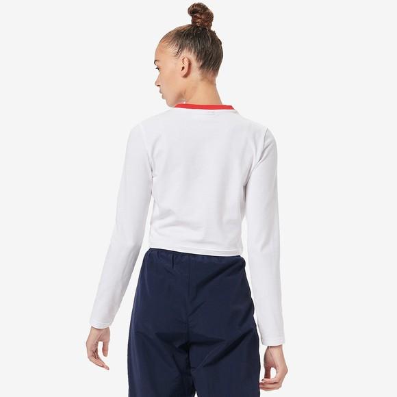 Fila Womens White Jaya Long Sleeve Crop T Shirt main image